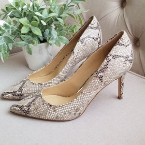 Jessica Simpson snake print heels 8.5